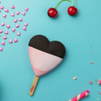 Cherry Bubblegum Ice Cream Stick (Heart Shaped)