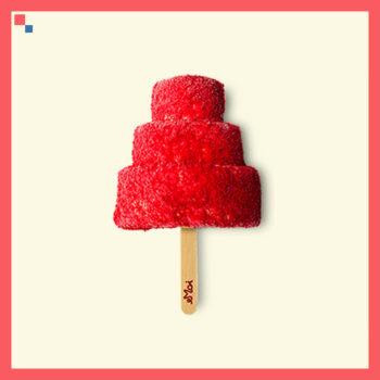 Red Velvet Cake Ice Cream Stick (Chritmas tree Shaped) BESTSELLER!