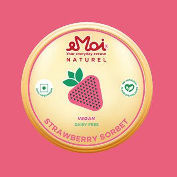 Strawberry sorbet (VEGAN)