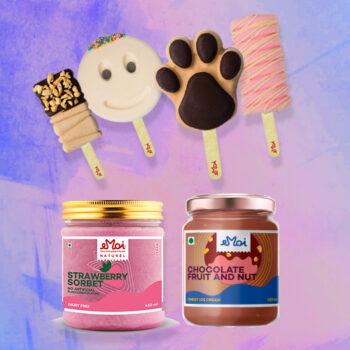 Pack Of 2 Ice cream Jars and 4 Ice cream Sticks